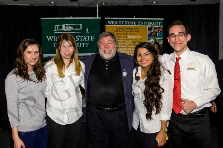 Steve Wozniak and the President's Ambassadors at Wright State University